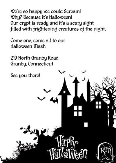 Printable Halloween Invitiation Templetes