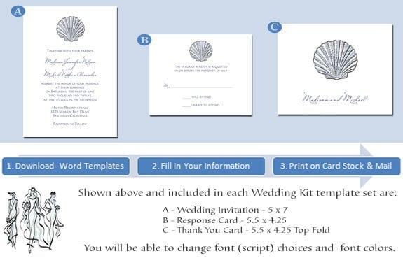 Printable Hawaiian Wedding Invitations