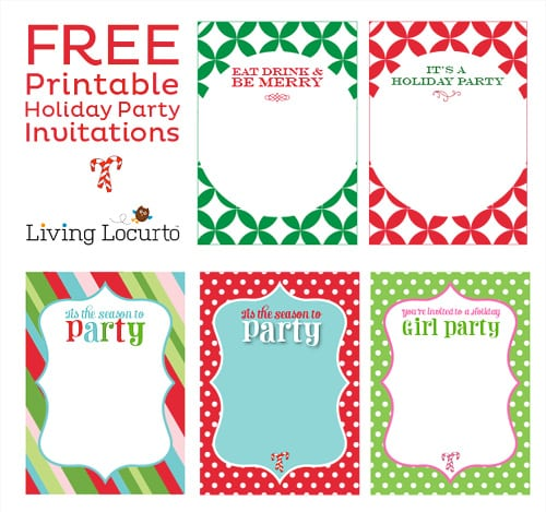 Printable Holiday Invitations