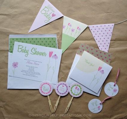 Printable Invitation Kits Baby Shower