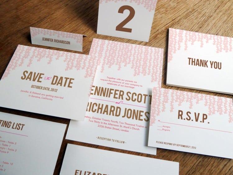 Printable Invitation Kits Wedding