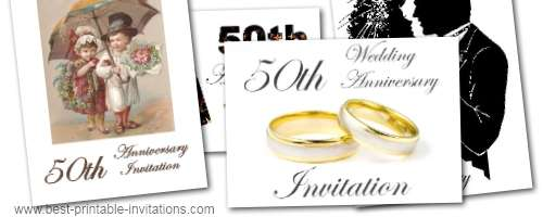 Printable Invitations For 50th Anniversary