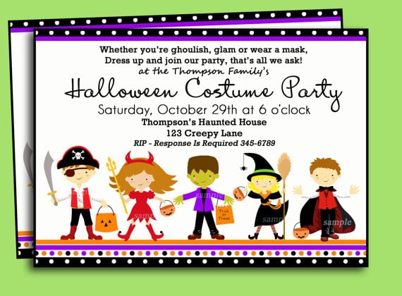 Printable Invitations For Hallween Kids