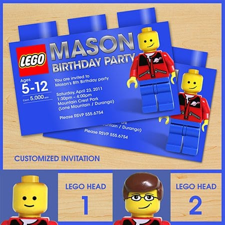 Lego Birthday Invitation is an amazing ideas you had to choose for invitation design
