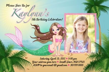 Printable Mermaid Invitations Australia