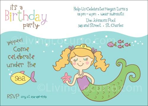 Printable Mermaid Invitations Free
