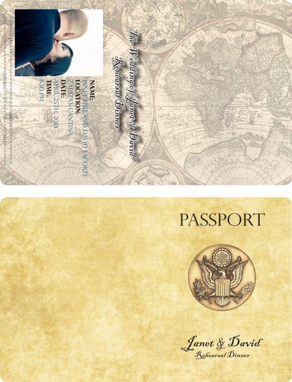 Printable Passport Wedding Invitation Template Free