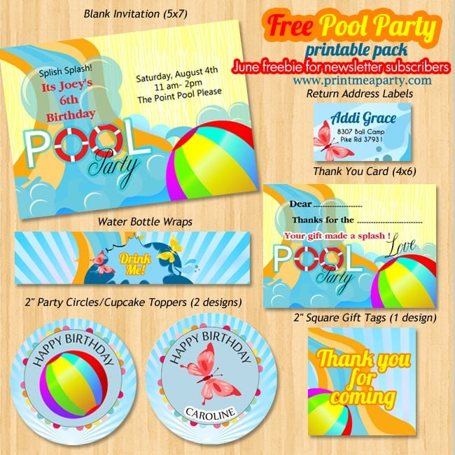 Printable Pool Party Invitations For Free