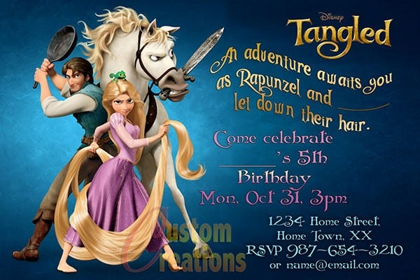printable rapunzel invitations
