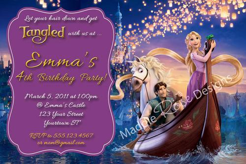 Printable Rapunzel Invitations