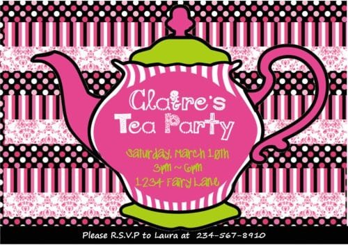 Printable Tea Party Invitations For Girls