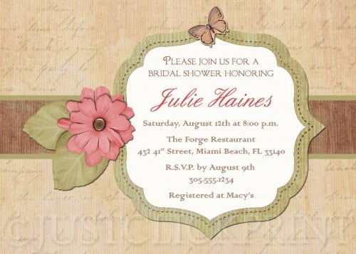 Printable Vintage Birthday Invitations
