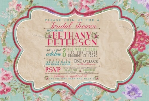Printable Vintage Invitations