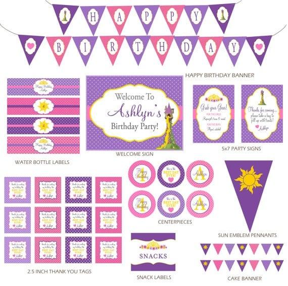 Rapunzel Printable Decorations