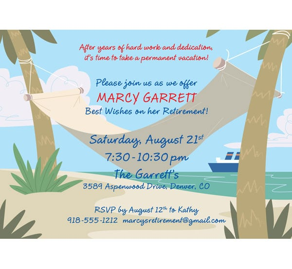 Retirement Party Invitation Template - Retirement party invitations templates