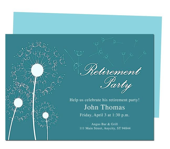 Retirement Party Invitations Flyer Templates