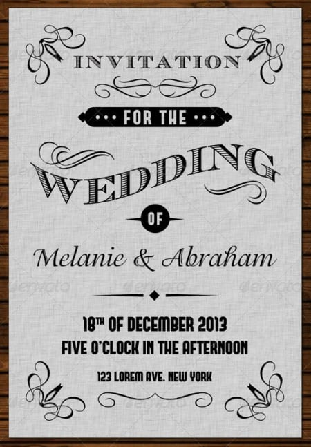 Retro Wedding Invitations Templates