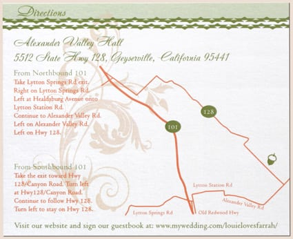 Route Maps For Invitations