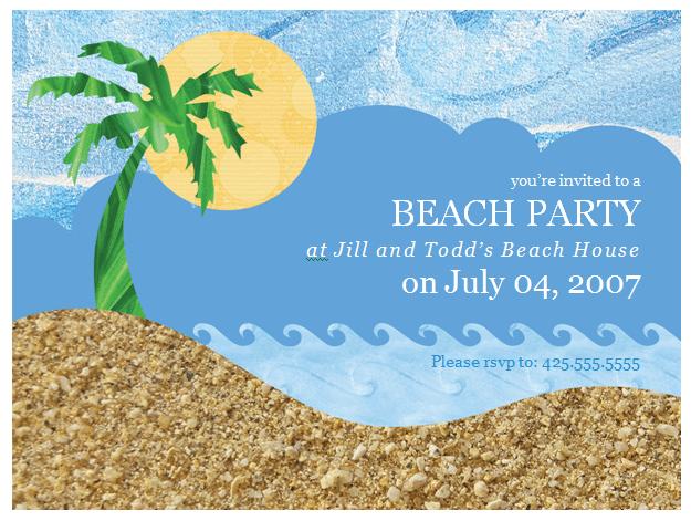Sample Invitation Beach Party