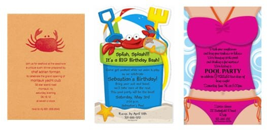 Sample Invitations Beach Party