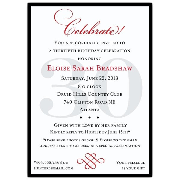 Sample Invitations For 50th Birthday Party