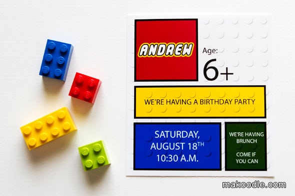 Sample Lego Invite