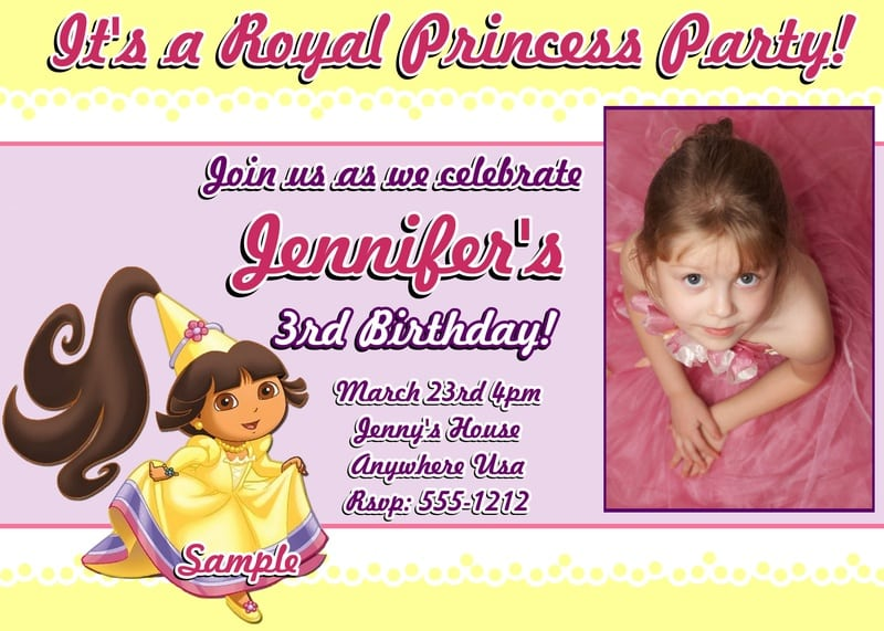 Sample Pictures Of Birthday Invitations