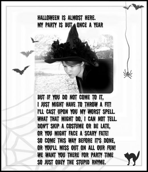 Scary Halloween Invites