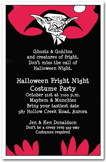 Scary Halloween Invitations For Adults