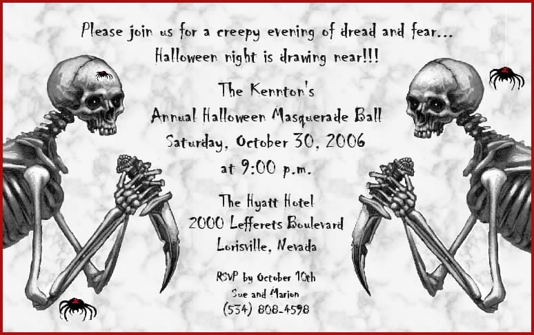 Scary Halloween Invitations Free