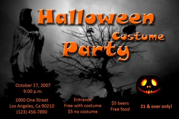 Scary Halloween Invites Free
