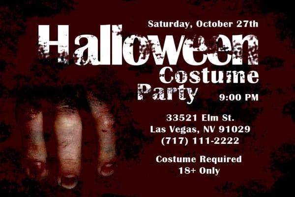 Scary Invitation Download