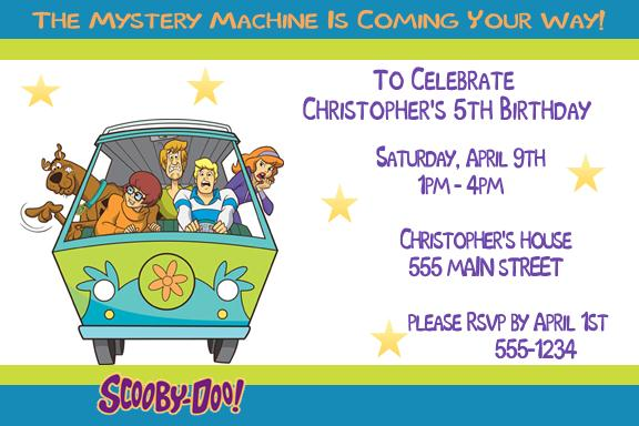 Scooby Doo Birthday Party Invitation Templates