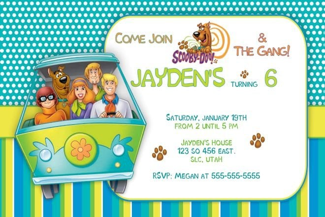Scooby Doo Invitation Template