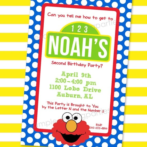 Sesame Street Invitations Online