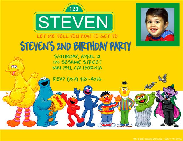 Sesame Street Invitations Wording