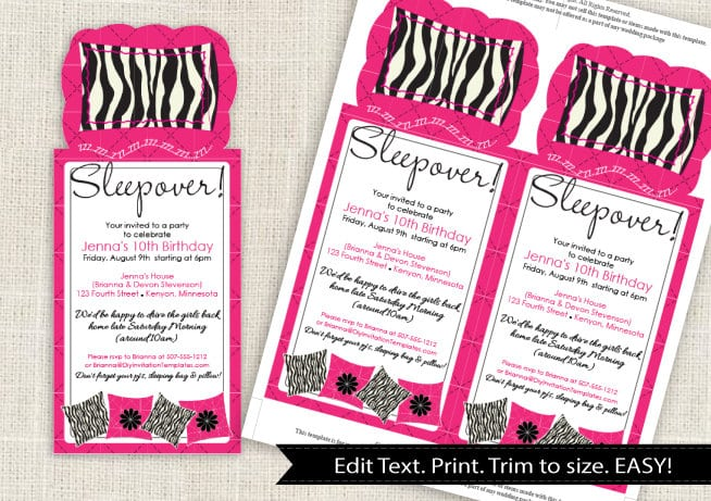 Sleepover Invitation Templates Download Free