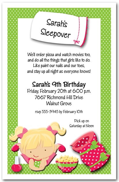 Sleepover Invitations To Make