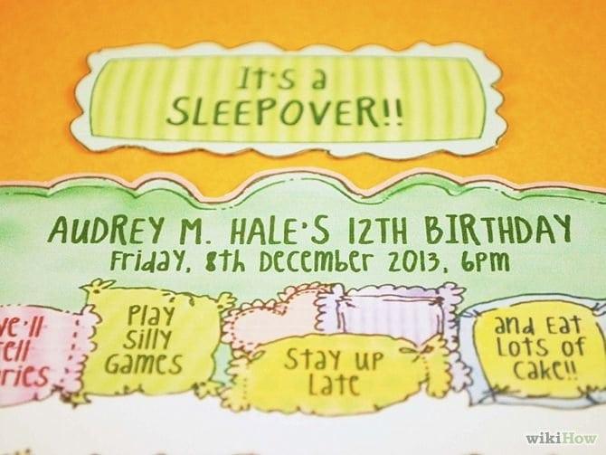 Slumber Party Invitation Ideas Homemade