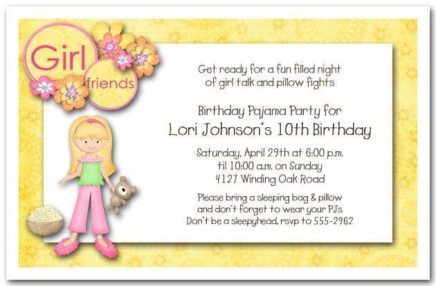 Slumber Party Invitation Templates Word