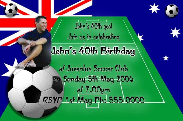 Soccer Party Invitations Australia