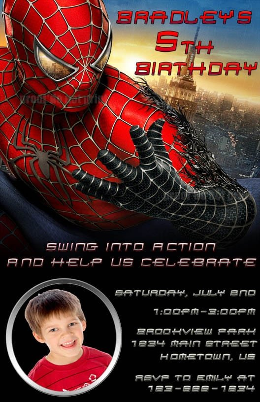 Spiderman Birthday Invite was amazing invitation ideas