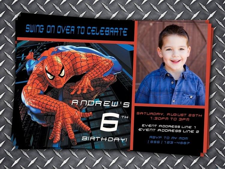Spiderman Sample Invitation