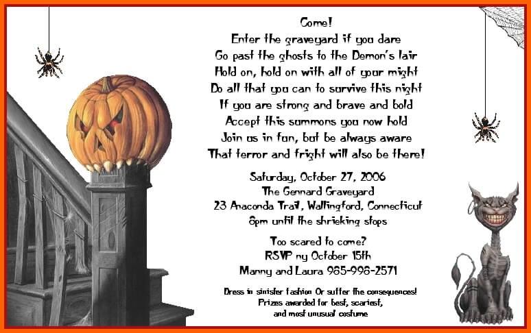 Scary Halloween Invites