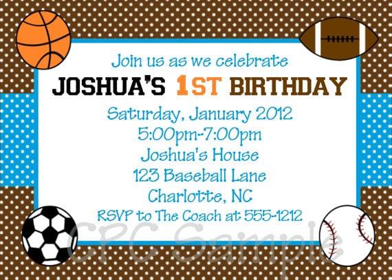 Sports Birthday Invitations Free Printable