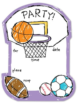 Sports Invitations For Boys