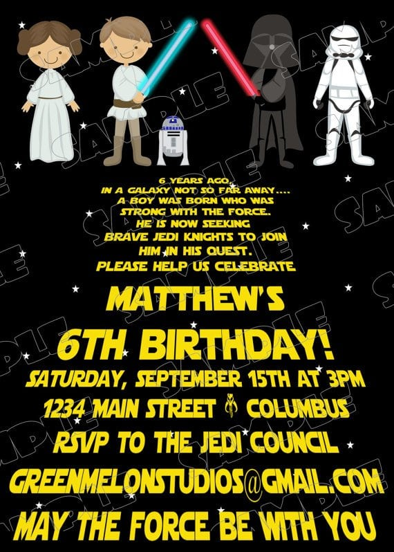 Star Wars Birthday Invites could be nice ideas for your invitation template