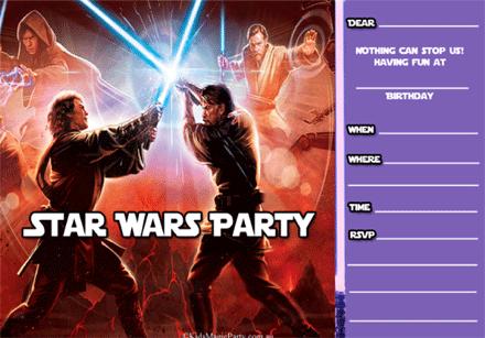 Star Wars Printable Birthday Invitations
