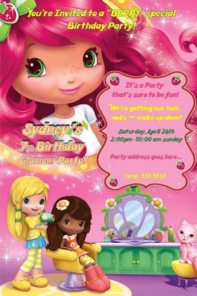 Strawberry Shortcake Invitations Printable