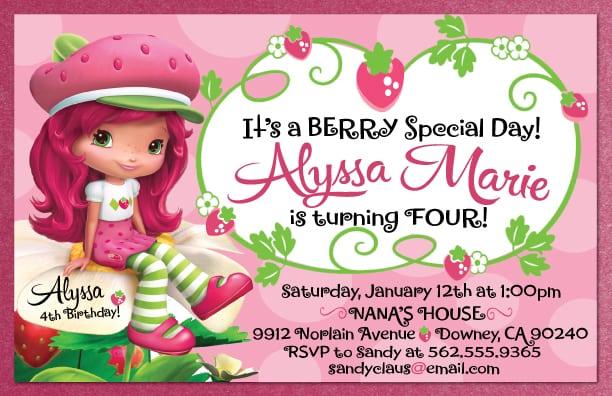 Strawberry Shortcake Invitations Template Free